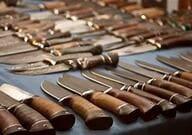 Collection de couteaux